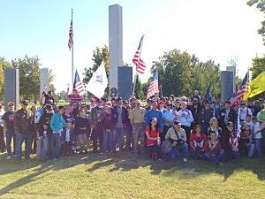 veterans march columbia park