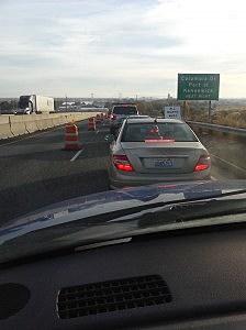 Blue Bridge traffic jam
