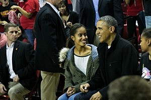 Obama watches brother in law coach vs. Maryland