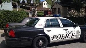 Spokane police car hit by drunk driver