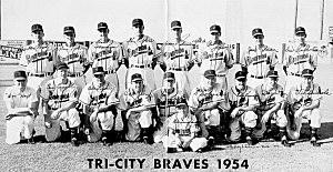 1954 Tri City Braves - Gregor Hanson-richlandbombers.com