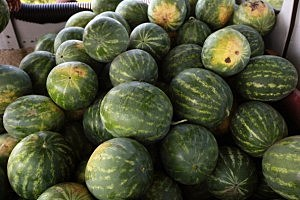 Man accused of assault on watermelon