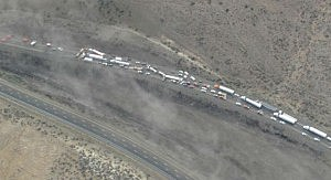 Interstate 90 crash near Vantage