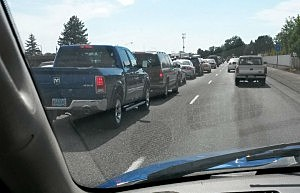 Another Highway 395 and Yelm traffic backup