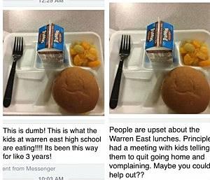 School lunch photo