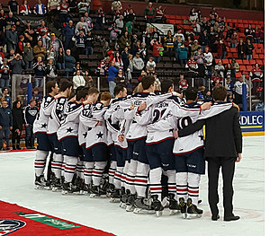 Americans 2016-17 awards, team picture from March 19 (Townsquare Media)