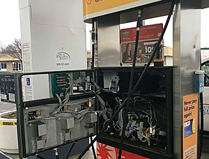 Gas pump where skimmer was found (Richland police)