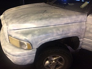 At least take pride in your work! Crappy paint job on stolen truck (Kennewick police)