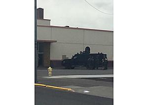 Pasco Police shut down area for Benton County SWAT search (Pasco Police)