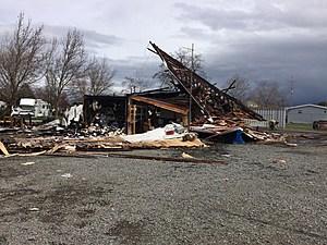 Propane tank explosion, fire destroys LaGrande business (Oregon State Patrol)