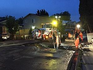 Broken water line Kennewick (Kennewick police)
