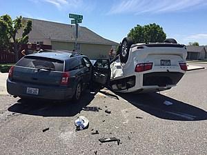 Wild Pasco wreck toppled SUV (Pasco Police)