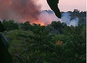 Bateman Island fire started by people, island closed indefinitely (Travis Brett-Newstalk870)