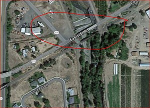 Man's body found under this bridge at Milton-Freewater (Google Earth)