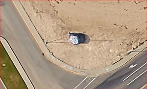 Southridge Spirit Rock shows off colors, even from space (Google Earth)