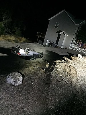 This car flipped in speeding rollover (Kennewick police)